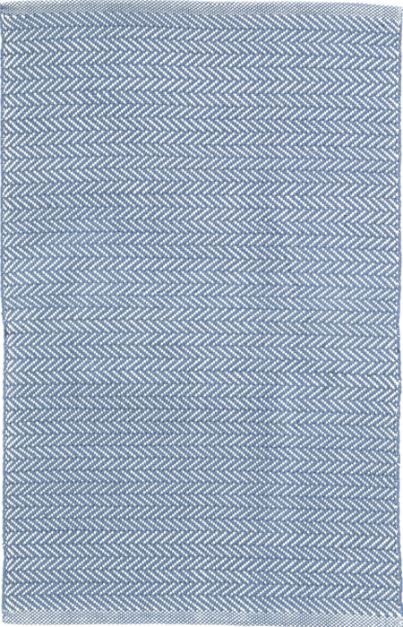 5653cbb25bb0 Herringbone Denim/Ivory Indoor/Outdoor Rug | RugsTK