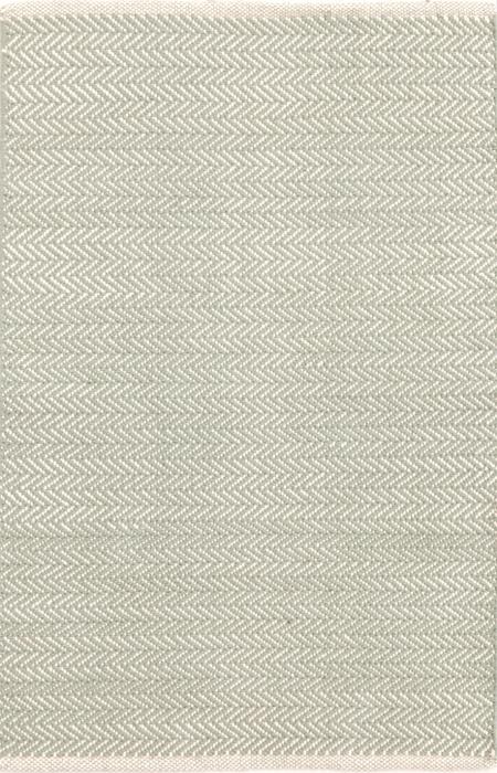 Herringbone Ocean Cotton Woven Rug | RugsTK