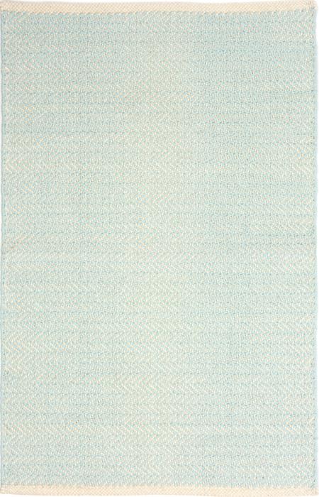 Herringbone Sky Cotton Woven Rug | RugsTK