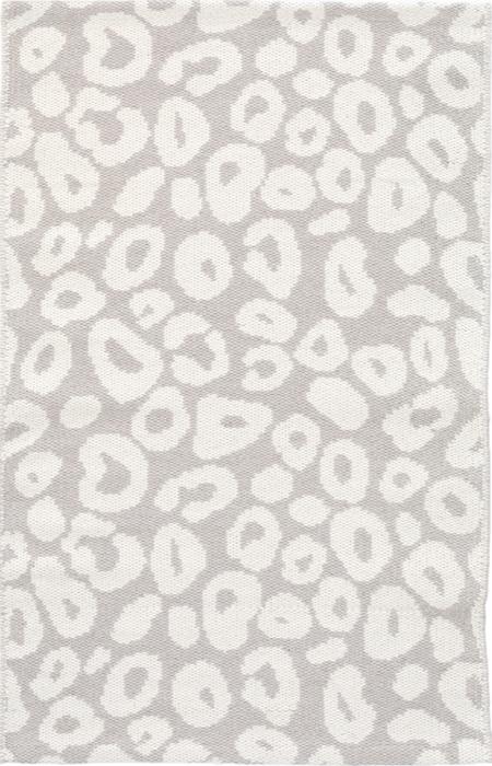 Spot Pearl Grey Cotton Woven Rug 50